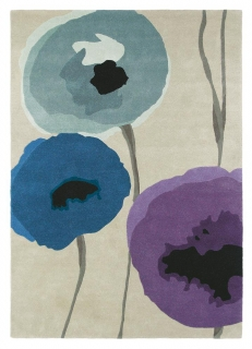 Brink&Campman Sanderson Poppies  45705 indigo/purple